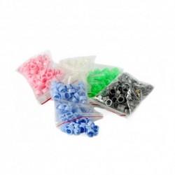 Anellini a clip in plastica...