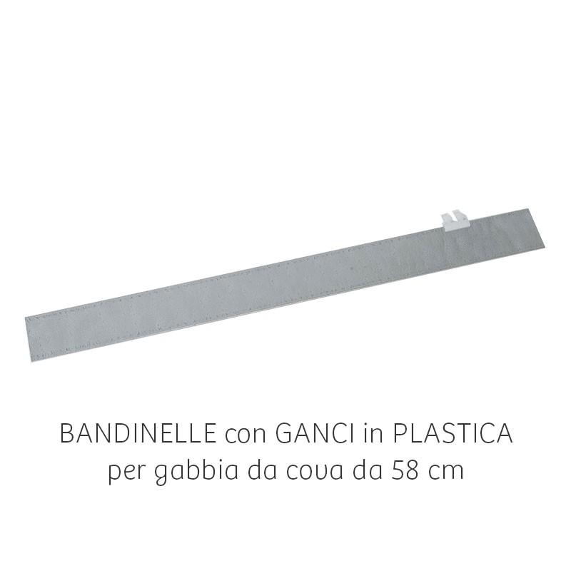 Bandinella zincata per gabbia da 58 cm