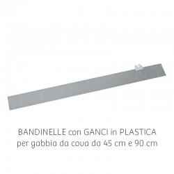 Bandinella zincata per gabbia da 45 cm e 90 cm