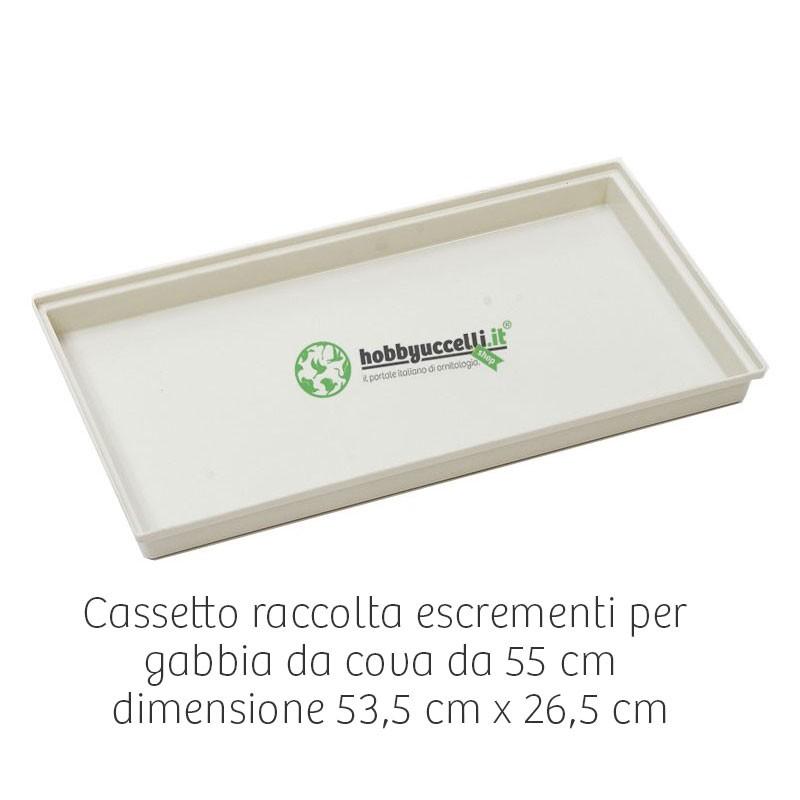 Cassetto in plastica per gabbia cova da 55 cm