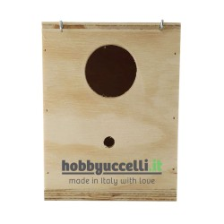 Nido in legno per Cocorite Inglesi