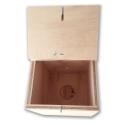 Vista interna nido in legno per cocorite taglia maggiorata