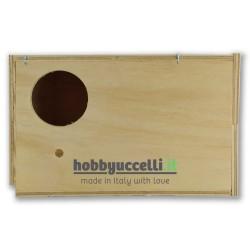 Nido in legno per Calopsitte con cassetto estraibile - foro ingresso a sinistra