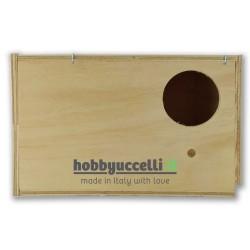 Nido in legno per Calopsitte con cassetto estraibile - foro ingresso a destra