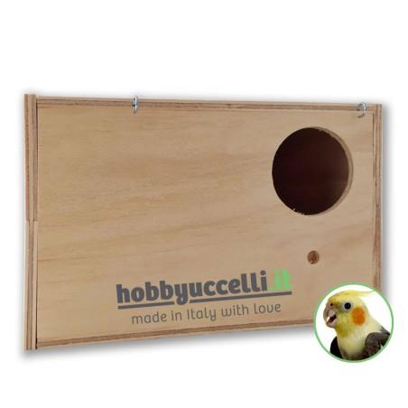 Nido in legno per Calopsitte con cassetto estraibile