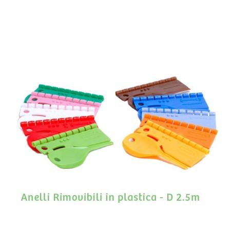 Anellini in plastica D 2.5 mm - numerati da 0 a 9