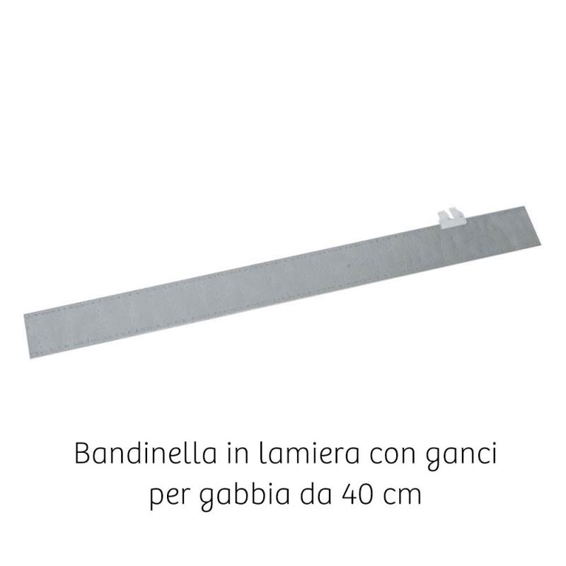 Bandinella zincata per gabbia da 40 cm