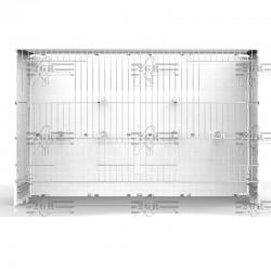 Dettaglio all'interno della gabbia Parete retro per gabbia cova 58 2GR