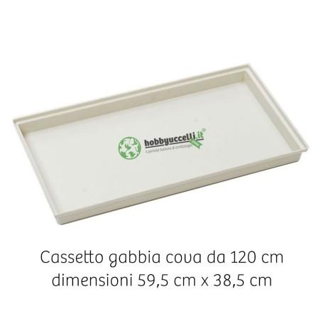 Cassetto scorrevole in plastica per gabbia da 120 cm