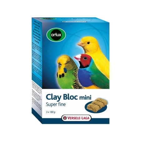 Orlux Clay Bloc mini - Blocco di pietra minerale per piccoli uccelli domestici