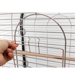 Dettaglio apertura della gabbia per pappagalli Tanzanite