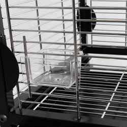 Dettaglio delle mangiatoie della voliera per grandi e medi pappagalli