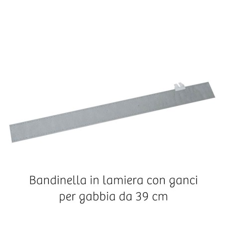 Bandinella zincata per gabbia da 39 cm