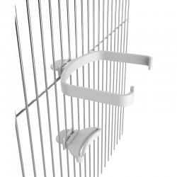 Dettaglio del montaggio del Supporto per attacco interno gabbia per Mangiatoia Eclissi