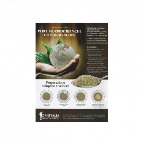 Preparazione Perle morbide bianche - Ornitalia
