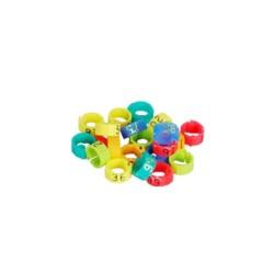 Anellini plastica D 8mm - numerati da 1 a 100