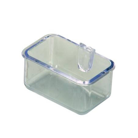 Mangiatoia interna in plastica con attacco diretto alle sbarre
