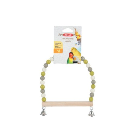 Altalena di perle con trespolo in legno