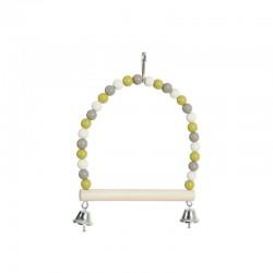 Altalena di perle con trespolo in legno - Zolux