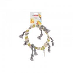 Altalena ruota di perle in legno con corda - Zolux
