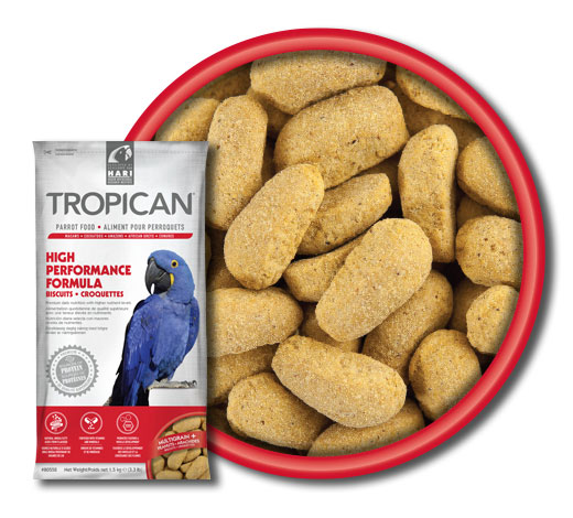 Dimensione e forma degli estrusi Hari Tropican High Formula Performance Biscuits