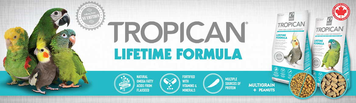 Estrusi per pappagalli Hari Tropican Lifetime da 2mm