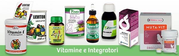 Integratori e vitamine per uccelli